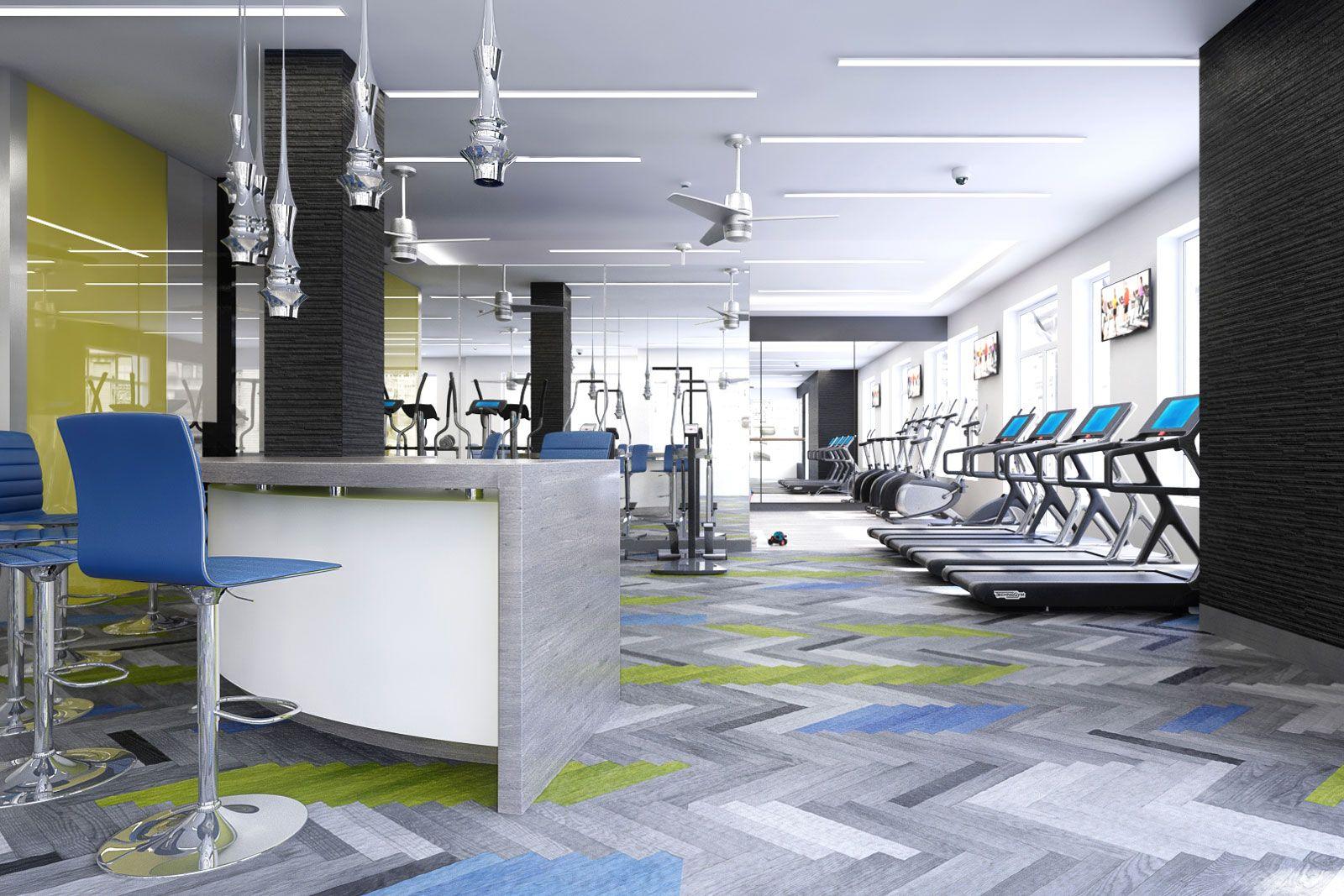Modern Gym #AscendApollo #Vidazme #InteriorDesign #InteriorArchitecture #ModernInterior #FitnessRoom #MultiFamily