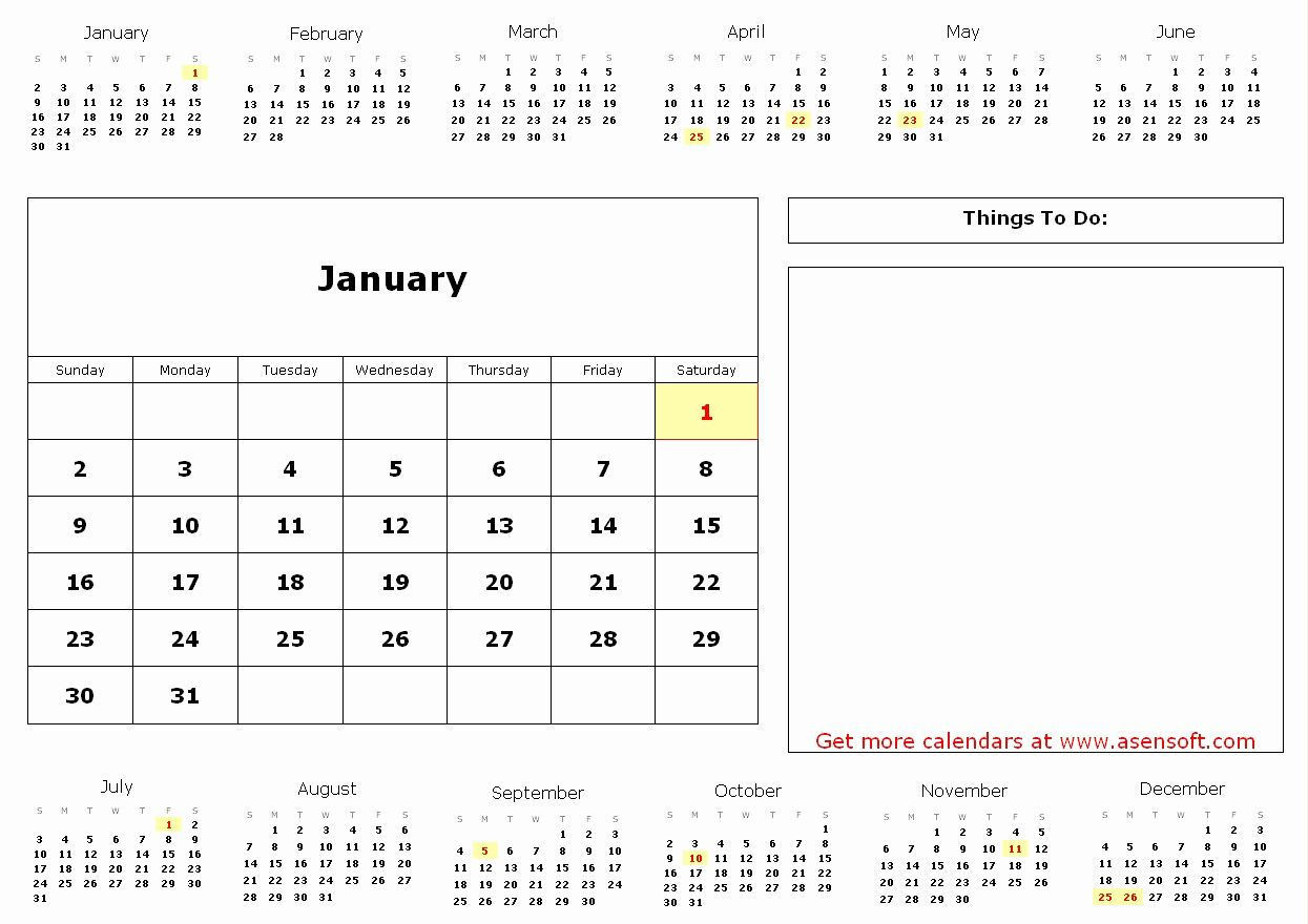 Awesome 32 Illustration Free Printable Photo Calendar ...