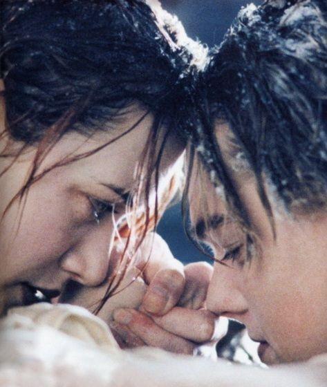 Kate + Leo (as) Rose + Jack in #Titanic (1997)