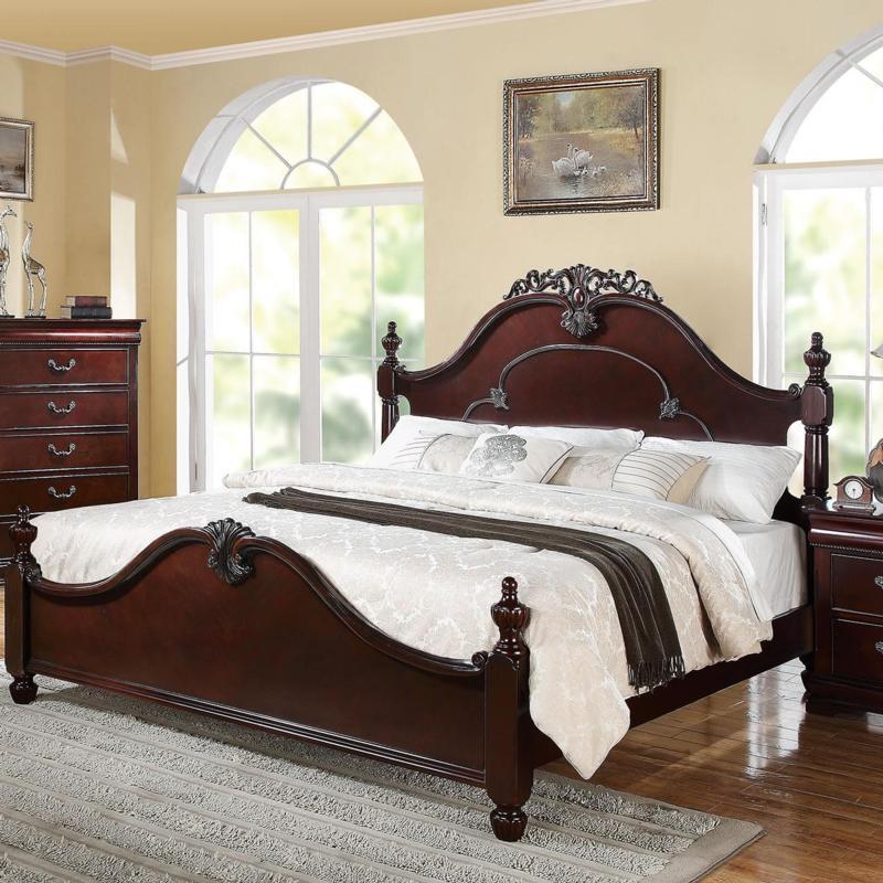 Acme 21857EK / 21860Q Cherry Finish Bed Master