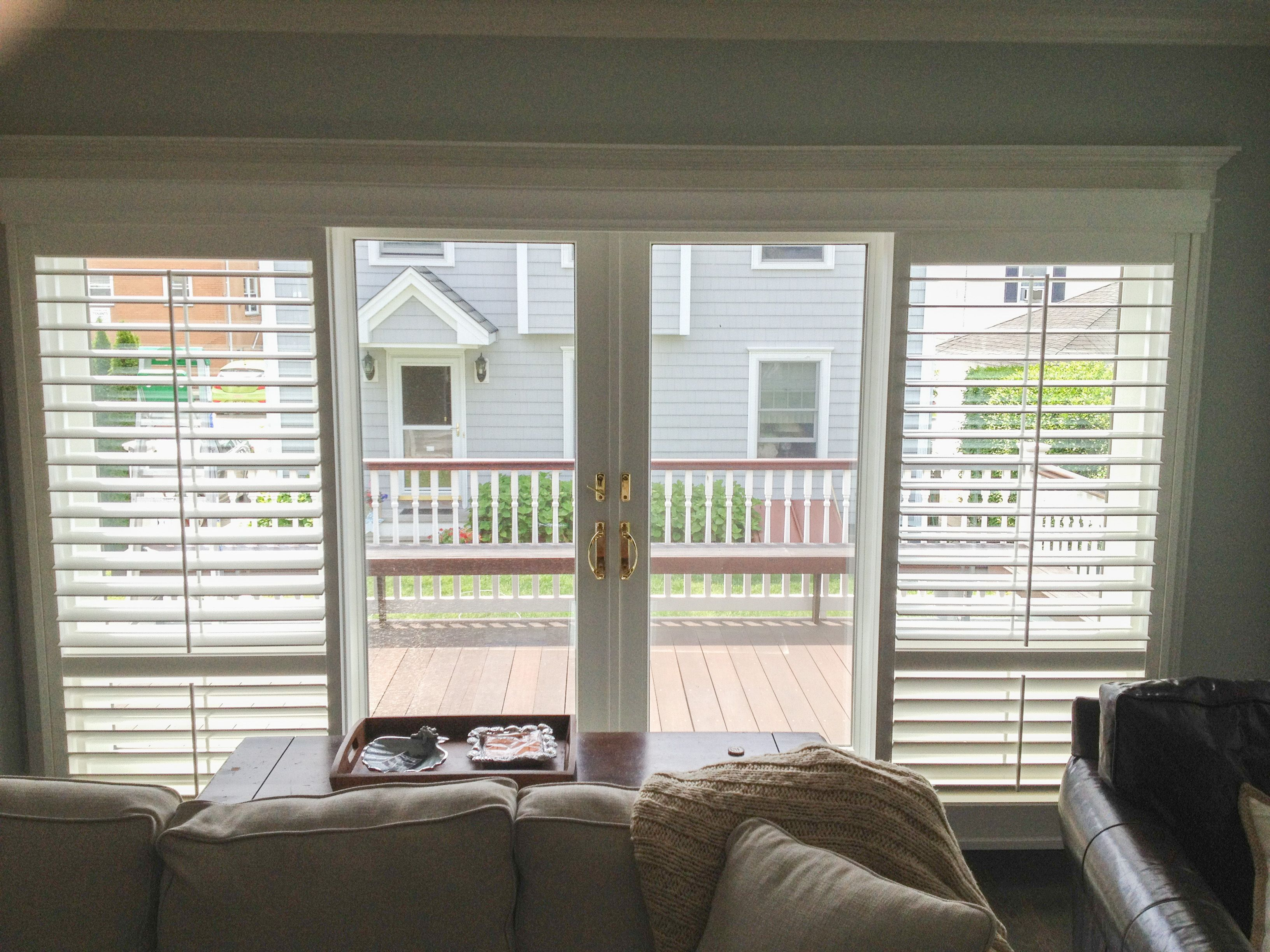 Open Bypass shutters pulled back