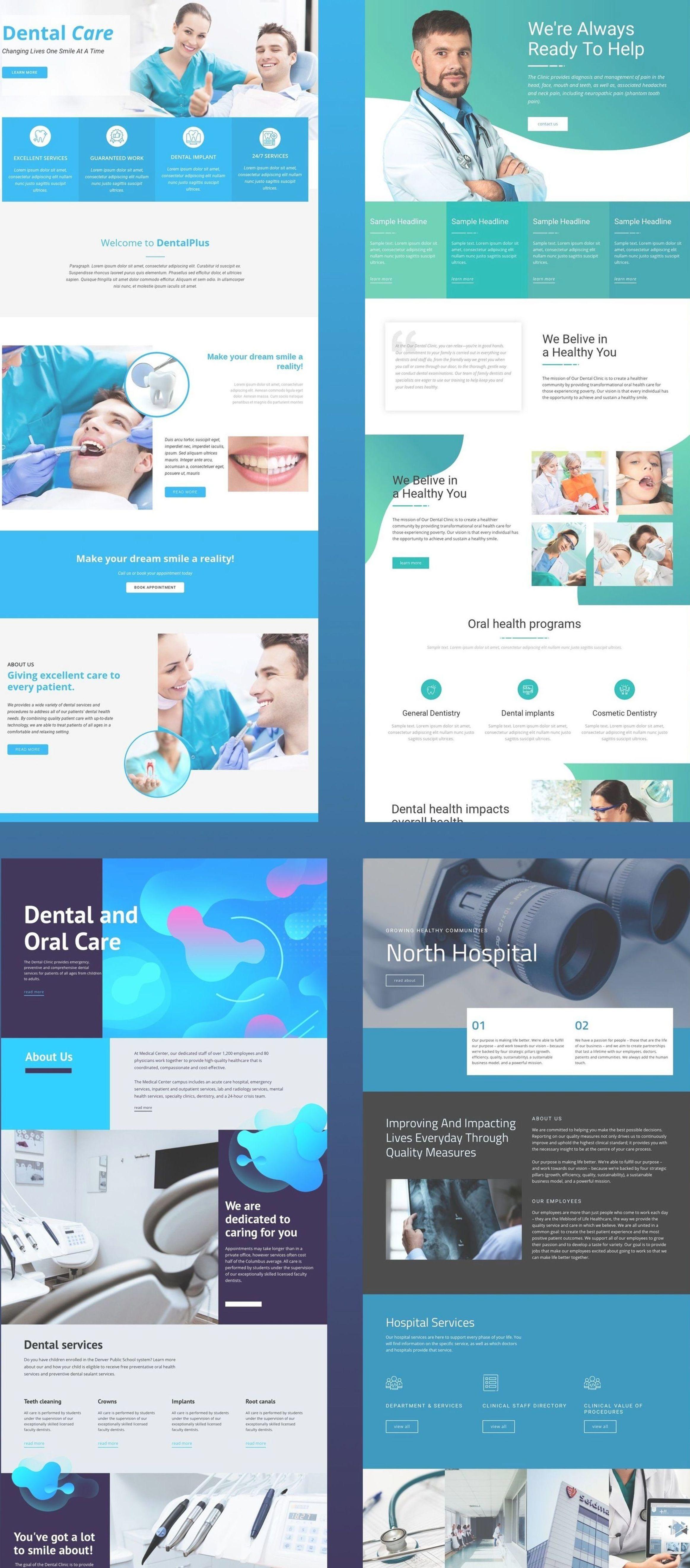 Nicepage Is Your First Website Designer With Revolutionary Natural Positioning Element Overlapping A Medical Website Design Healthcare Website Dental Website