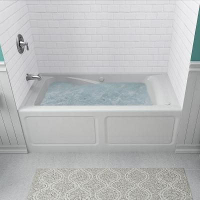 American Standard Everclean 60 In Acrylic Left Drain Rectangular