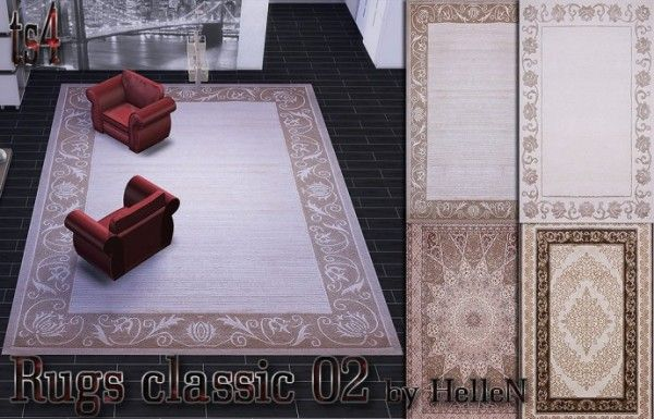 Sims Creativ: Rugs classic 02 by HelleN • Sims 4 Downloads