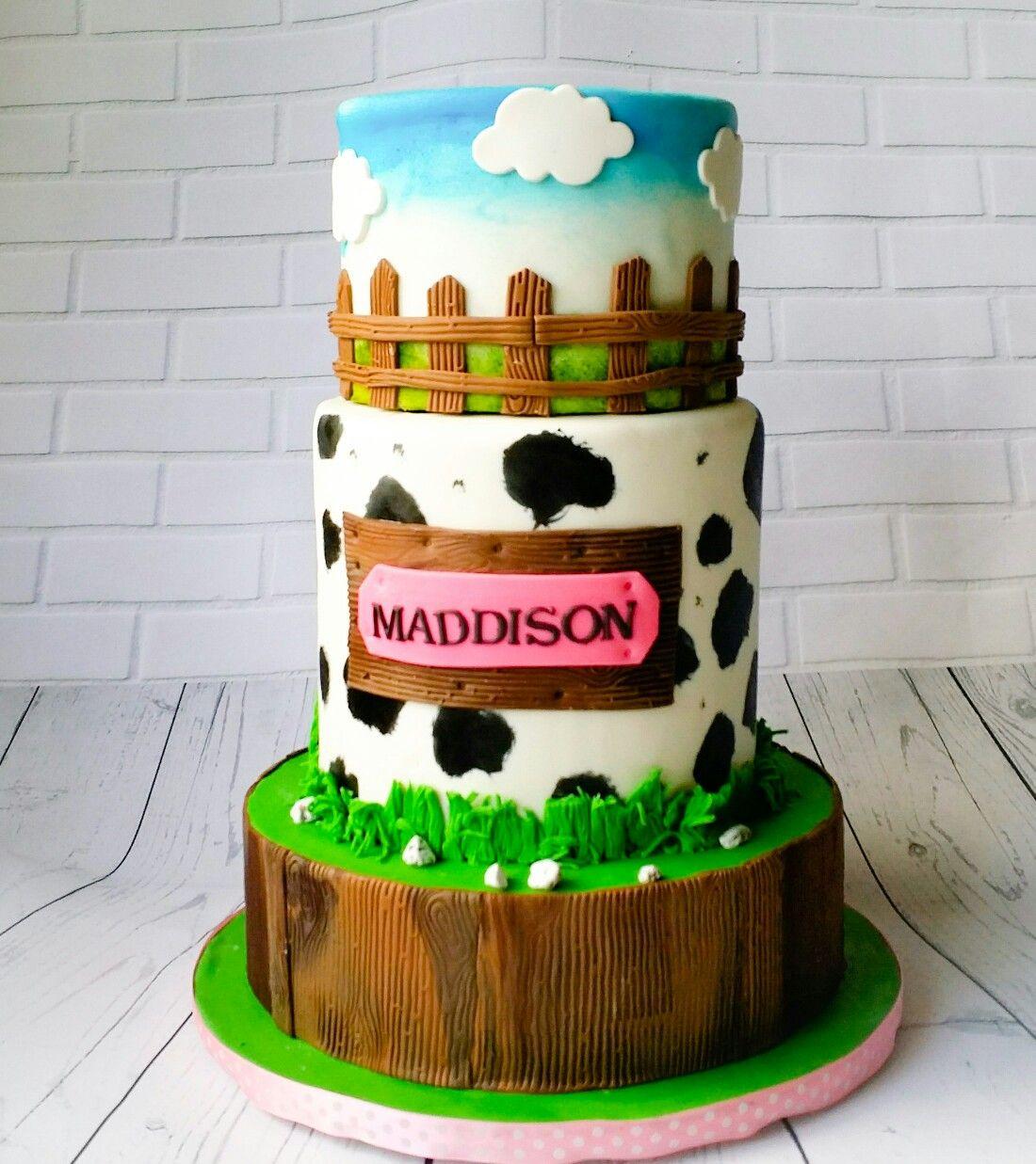 Farm Theme Birthday Cake Blue Ivy Cakery Cakes Pinterest Farm