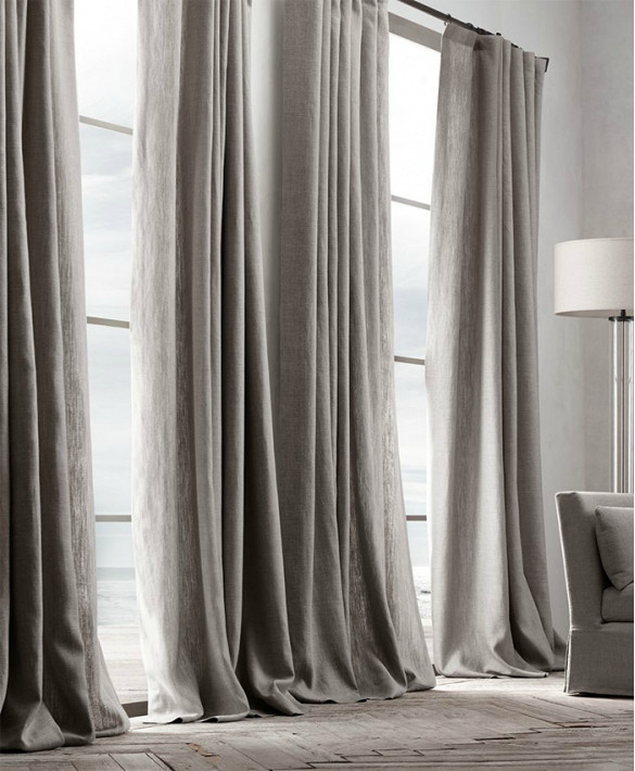 Belgian Linen Drapes Restoration Hardware With Images Curtains Living Room Neutral Curtains Stylish Living Room