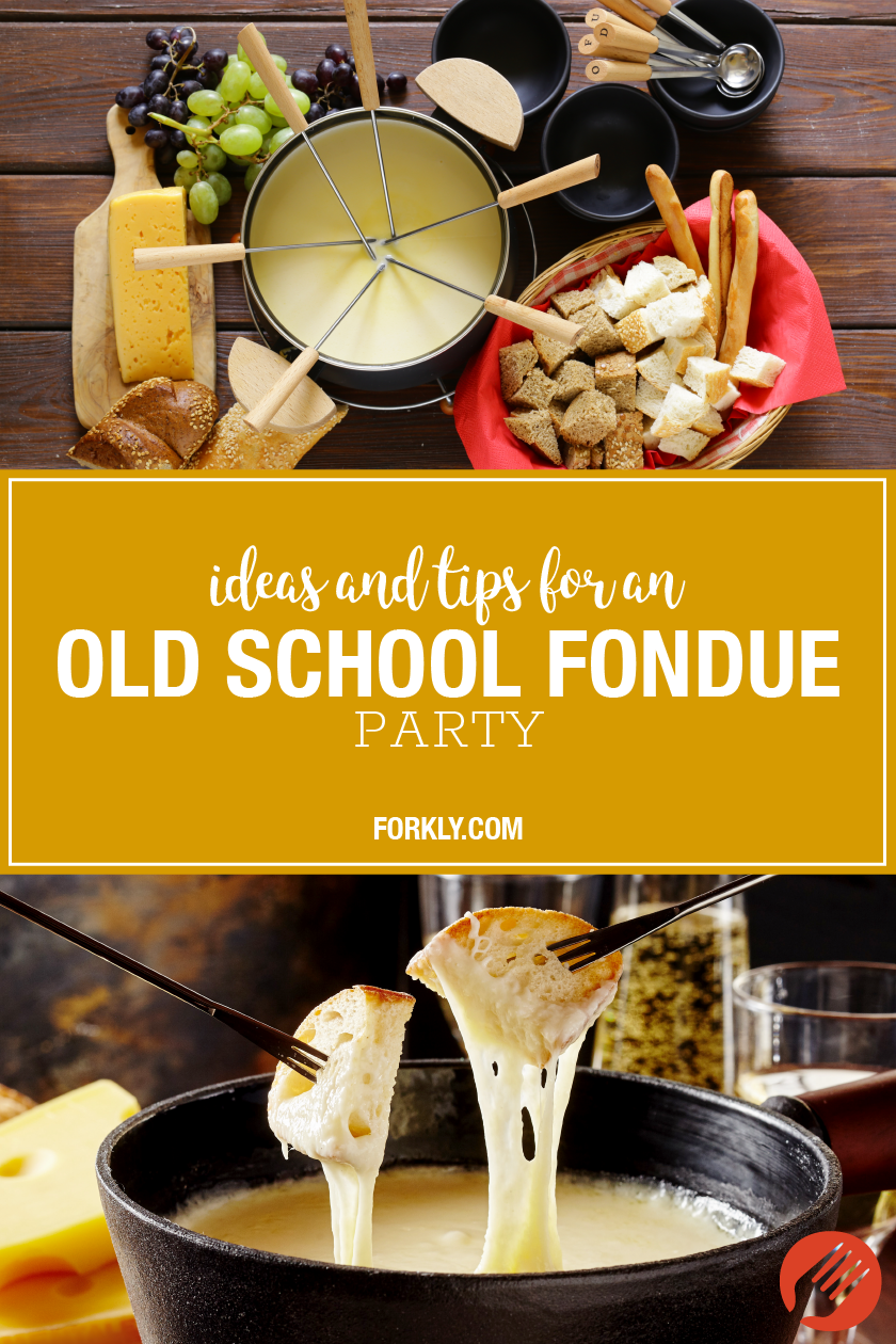 Ideas and Tips for an Old School Fondue Party #fondue Aside from being downright delicious, fondue a fun, interactive way to eat with friends or family! #fondueideas
