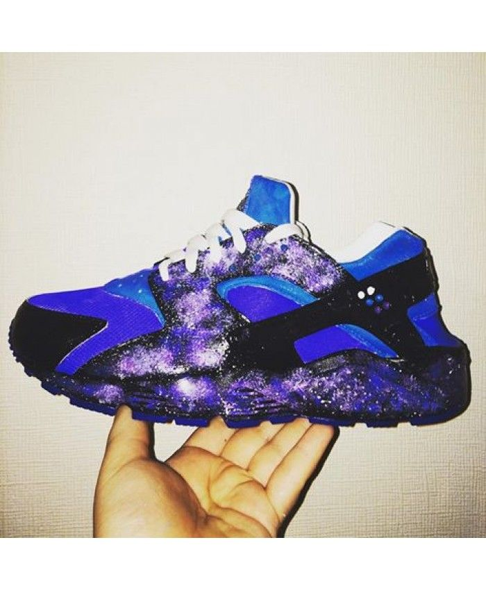 separation shoes a0f56 23a0a Nike Air Huarache Galaxy Blue Purple Trainer Excellent quality, absolutely  genuine, welcome to choose.