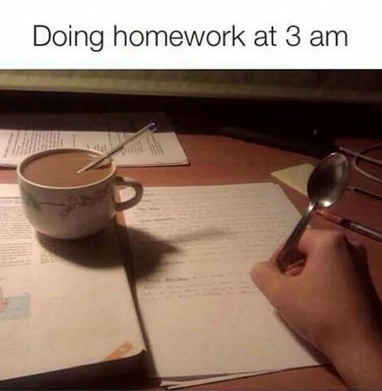 Sleep Is For The Weak Do Homework Humor School Memes