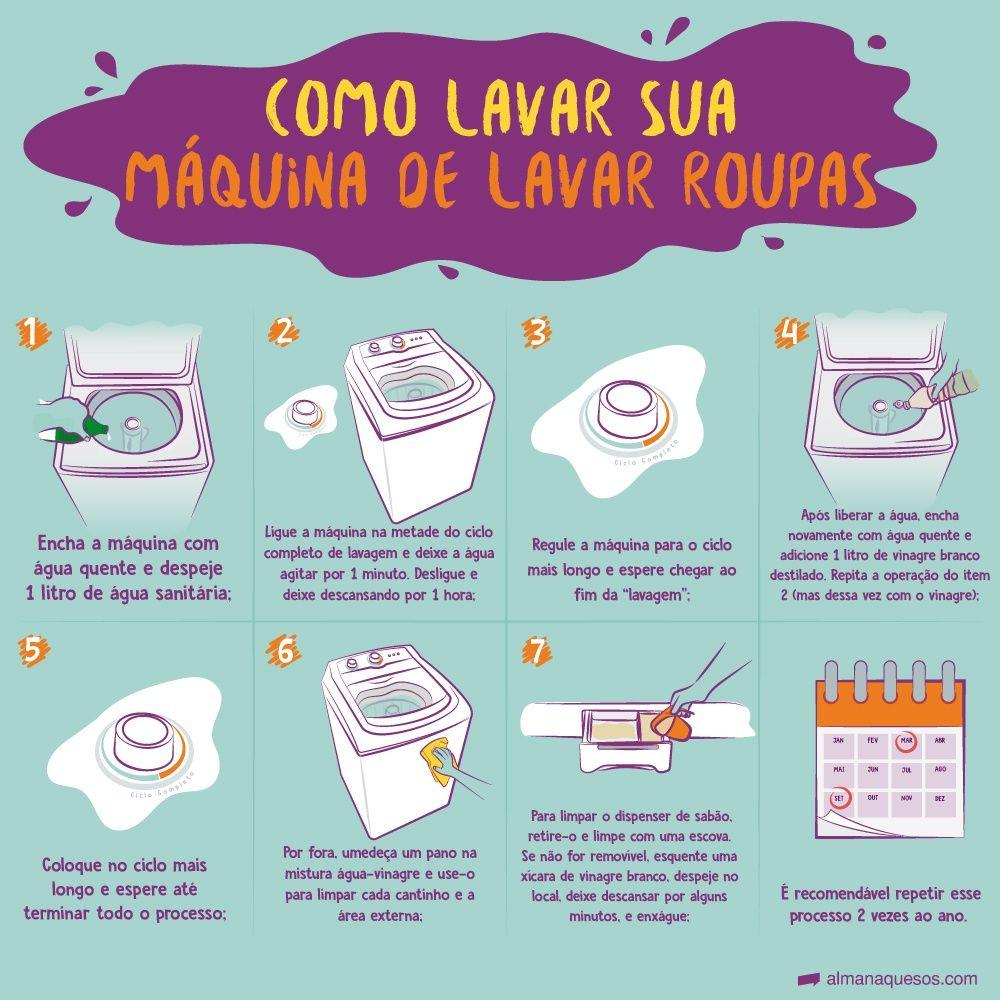 Maquina De Lavar Roupa Como Limpar Usando Vinagre Dicas De