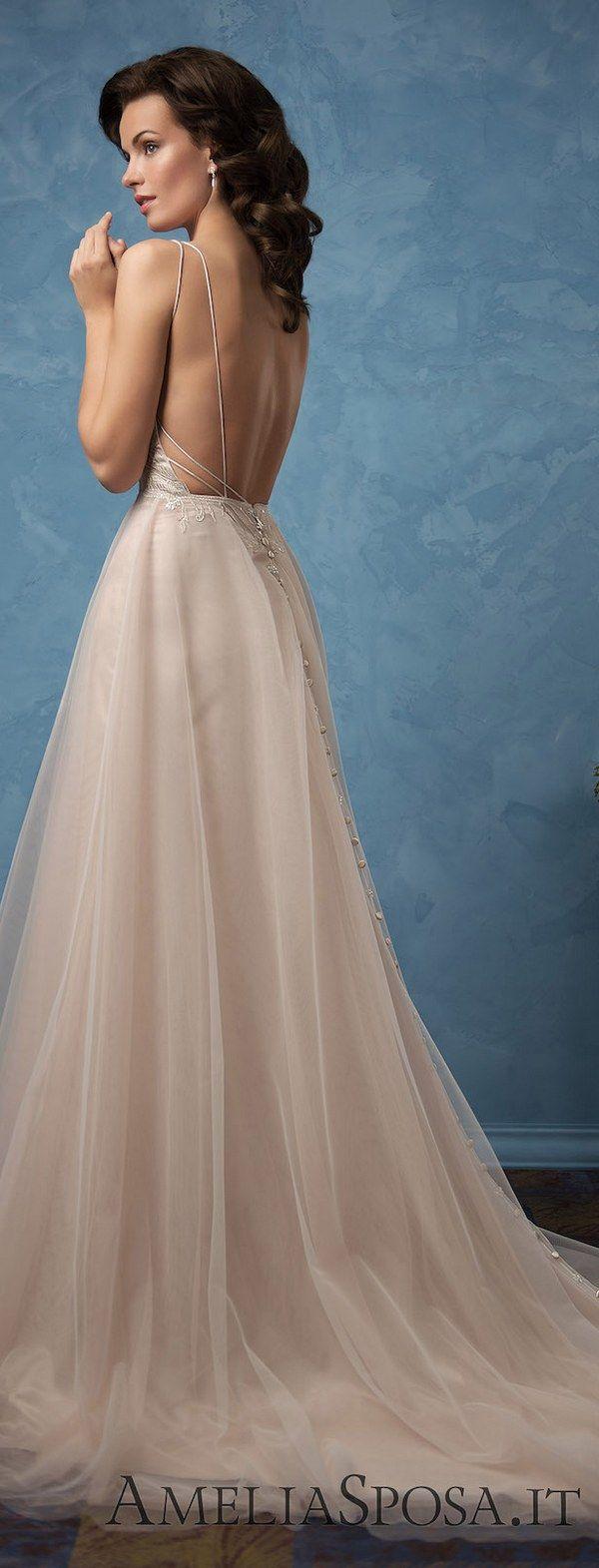 Amelia Sposa 2017 Wedding Dresses | Vestiditos, De novia y Vestidos ...