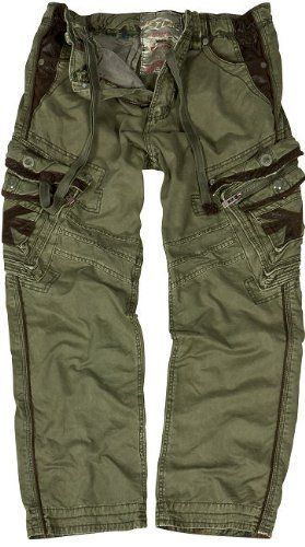 JET LAG cargo trousers Marcello khaki: Amazon.co.uk: Clothing ...