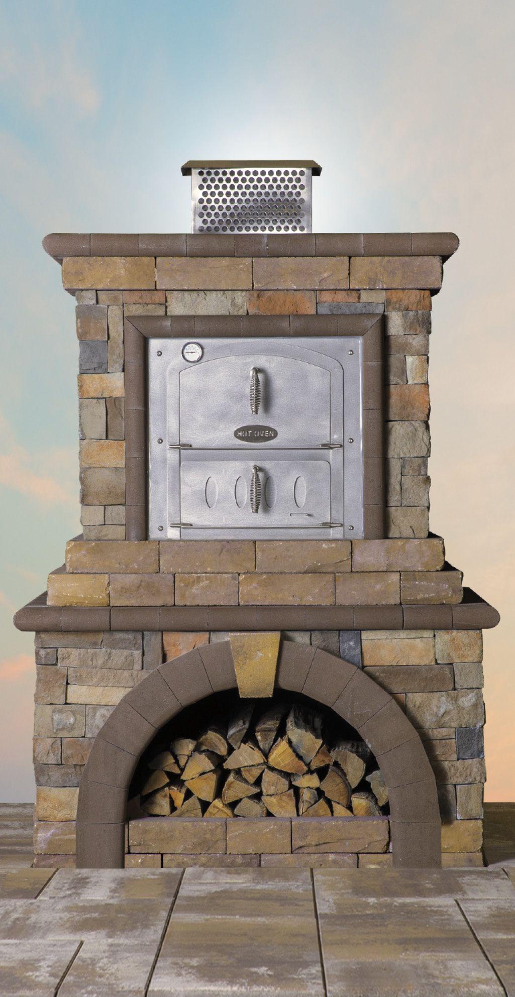 create the ultimate backyard with a cambridge fireplace imagine