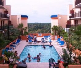 Monterey Bay Suites In Myrtle Beach South Carolina Features A Remarkable Roof Top Pool