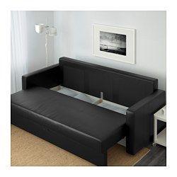 Bettsofa ikea lycksele  FRIHETEN 3er-Bettsofa, Bomstad schwarz - - - IKEA | Büro ...