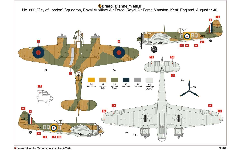 Airfix A04059 Bristol Blenheim Mk.If 1:72 | Bristol ...