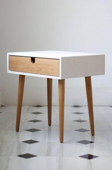 Best White Nightstand Bedside Table Scandinavian Mid Century 640 x 480