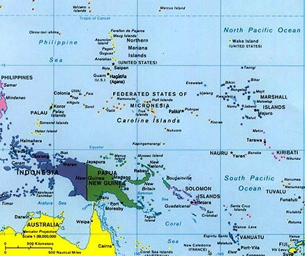 West Pacific Islands Map Island Map Australia Map Remote Island