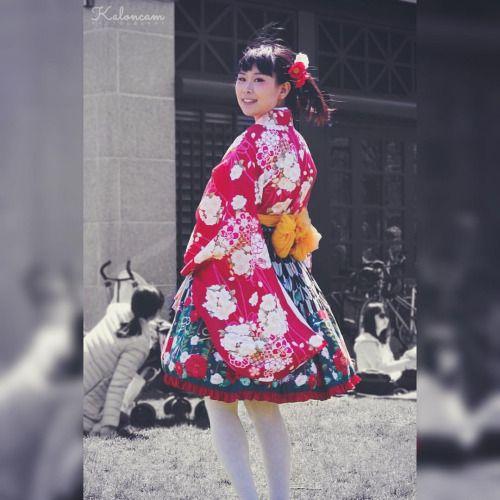 Wa Lolita in Metamorphose and vintage kimono