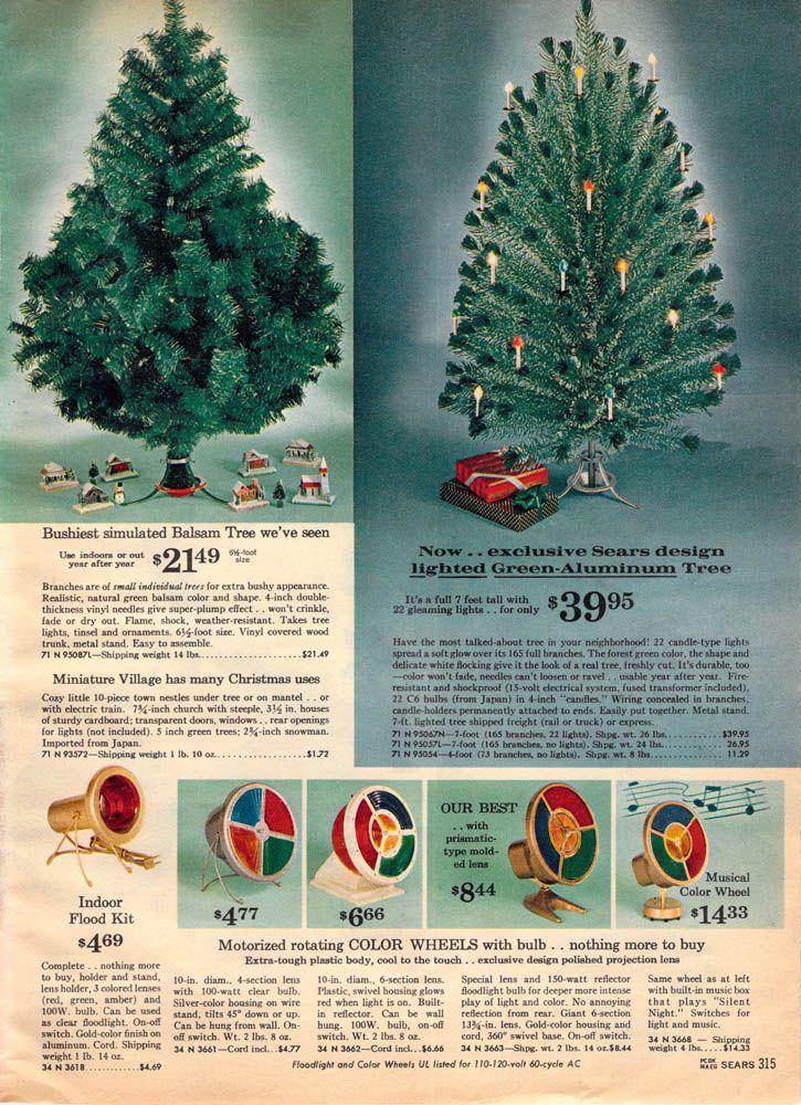 1962 Sears catalog - Christmas tree color wheels - 1962 Sears Catalog - Christmas Tree Color Wheels Vintage Christmas
