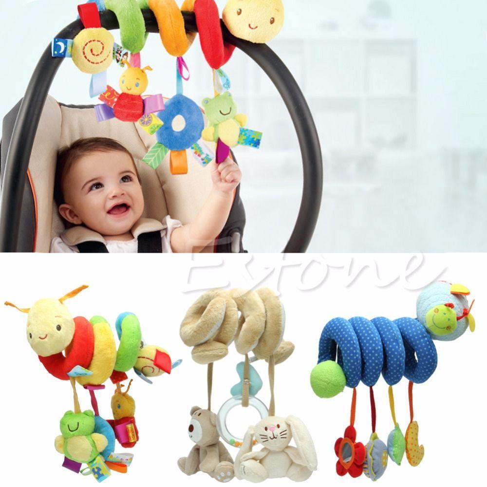 Car hanging toys  Nova Atividade Spiral Stroller Assento de Carro Viagens Torno