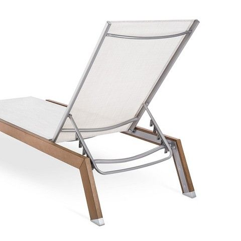 Threshold Bryant 2 Piece Faux Wood Patio Chaise Lounge Set With Images Wood Patio Patio Chaise Lounge Faux Wood