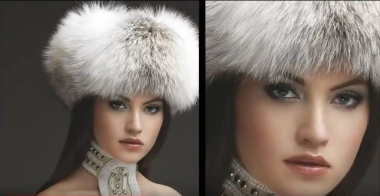 New Milano Fashion Luxury Real Genuine Silver Bluefrost Fox Fur Cossack Hat in Kleidung & Accessoires,…