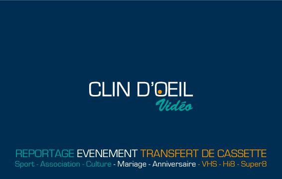 Realisation Dune Carte De Visite Pour Clin DOEil Video Entreprise Reportages Recto