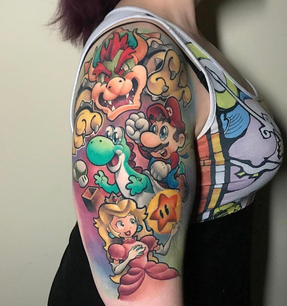 1st part of my Nintendo sleeve Brandon Outer limits