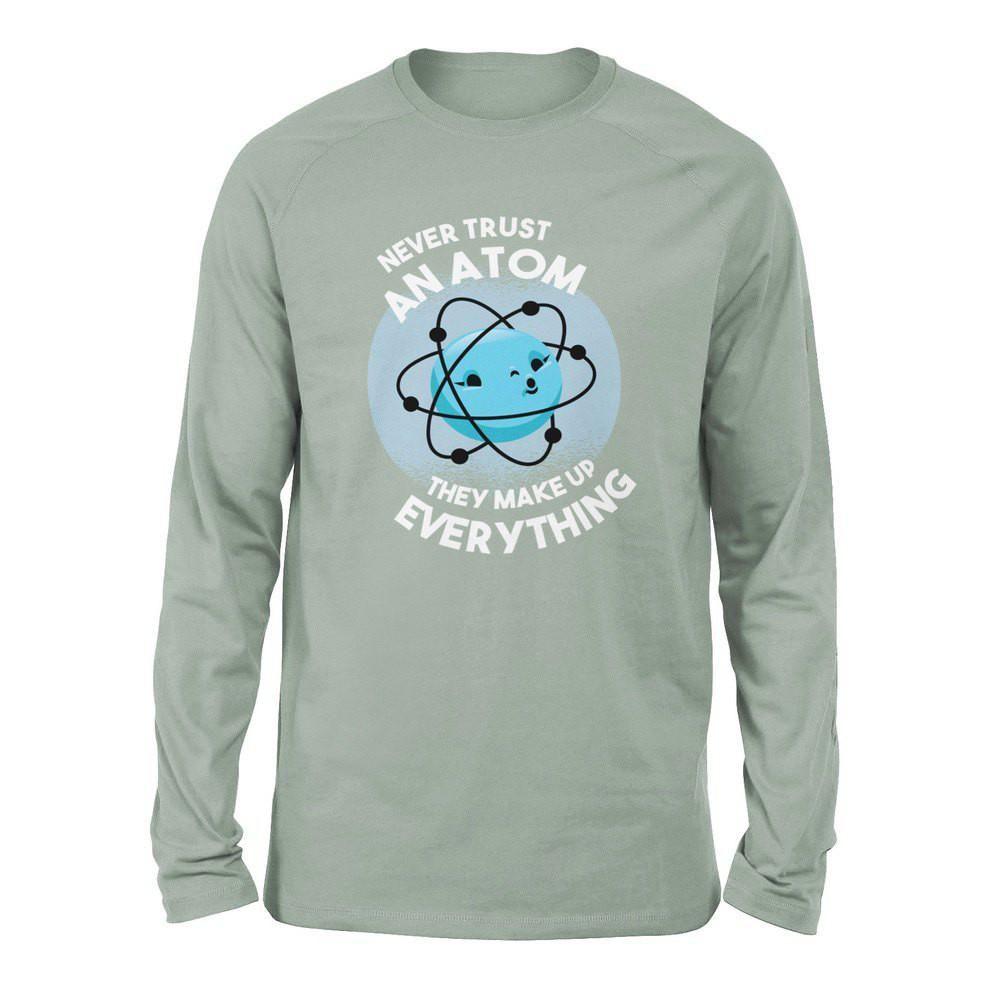 Vertraue niemals einem Atom, sie machen alles aus Männern / Unisex Drop Shoulder Sweatshirt – Dusty Blue / 3XL