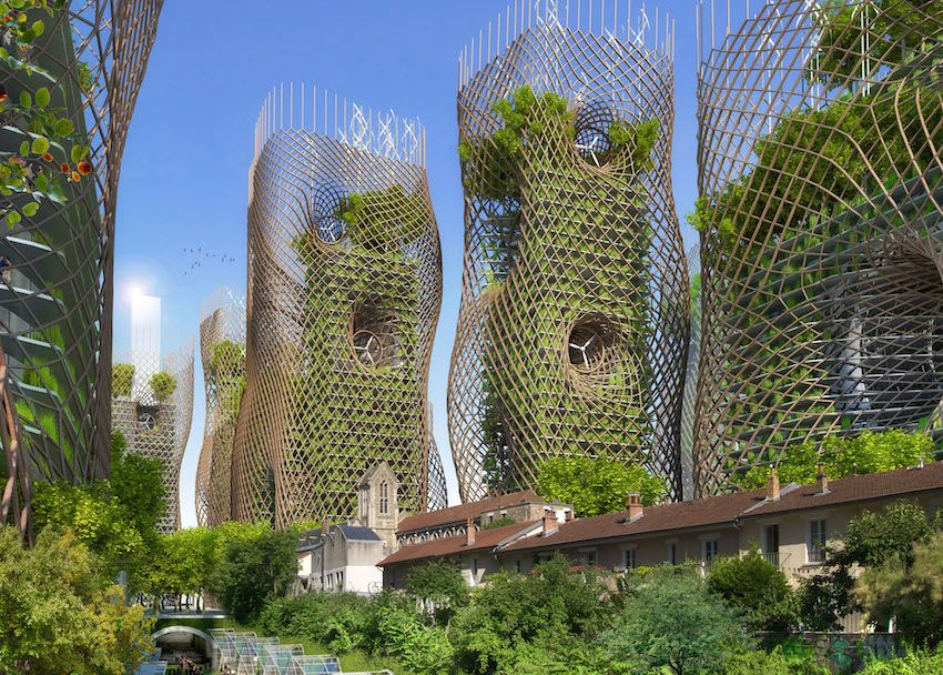 Top 10 des photos de paris en 2050 par l architecte for Architecture futuriste ecologique