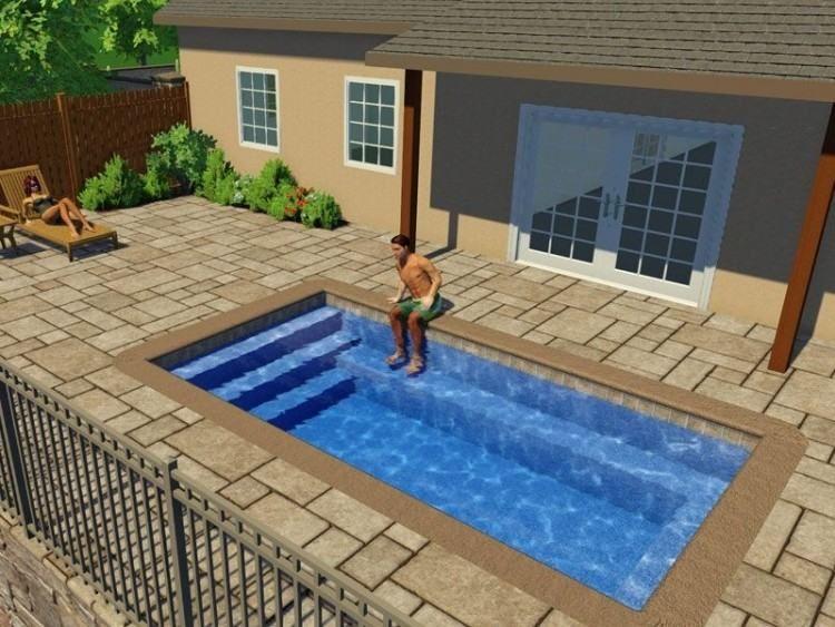 Prefab Swimming Pool Designs Small Inground Pool Fiberglass