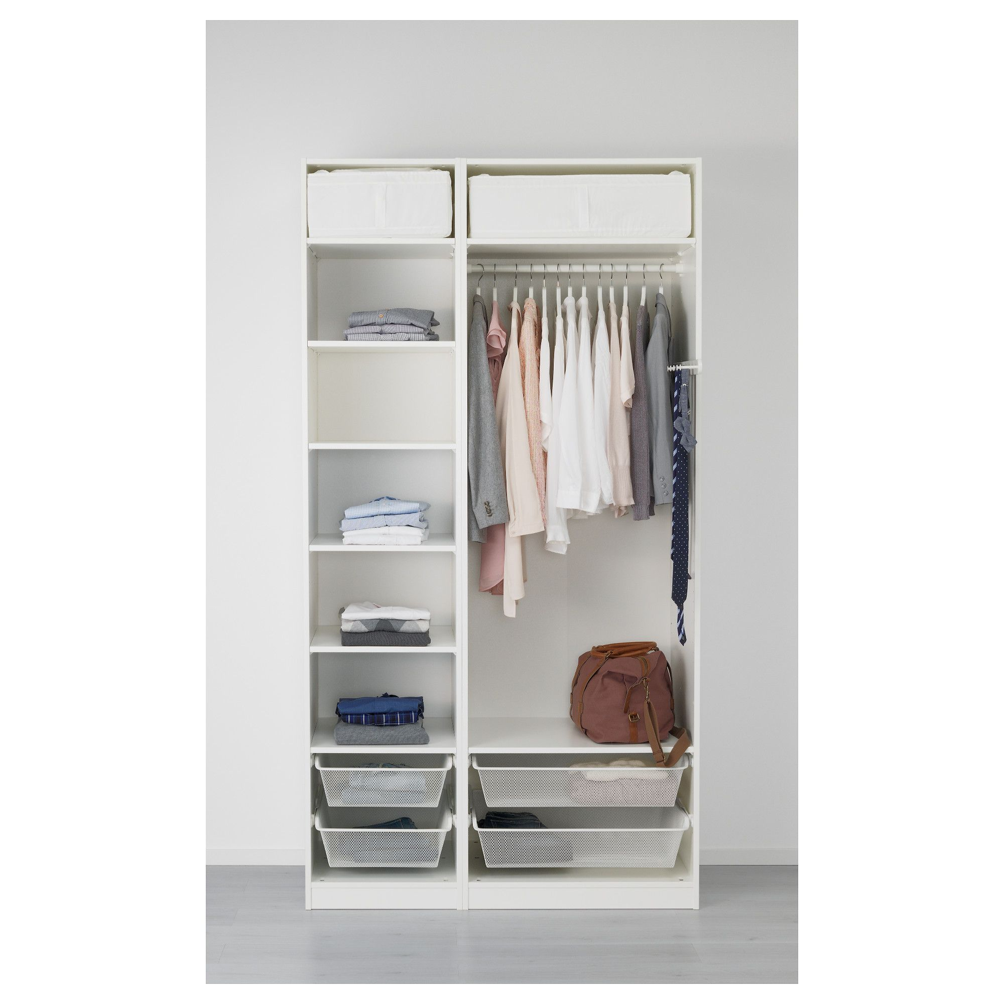 Pax Ballstad Guardaroba.Pax Wardrobe White Ballstad Vikedal Products In 2019