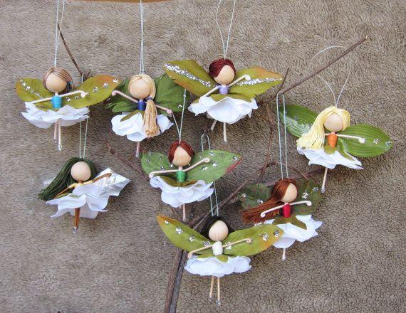 Flower Fairy Dolls, Miniature Fairies, Fairy Ornaments