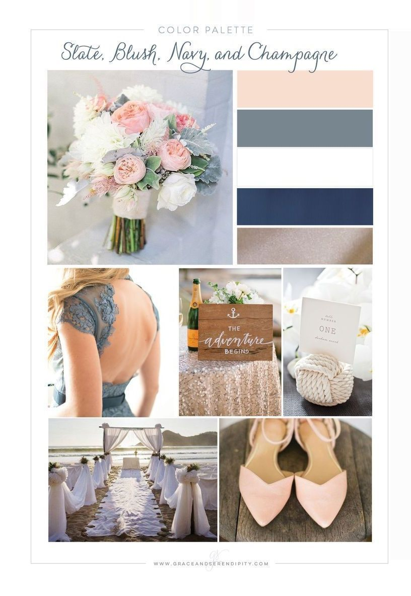 #blush #champagne #color #colors #Gray #nautical #Navy #slate #wedding #wedding colors pallets
