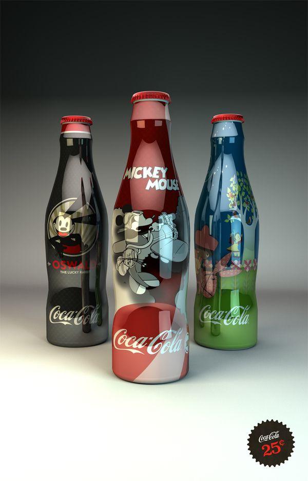 Disney Coke bottles Pour voir d'autres bouteilles uniques signées Coca Cola: http://jememballe.fr/lalgorithme-coca-cola-bouteilles-uniques/