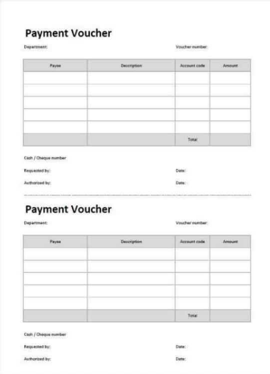 A Payment Voucher Template Is An Accounting Document That Is Used To - Free payment voucher template