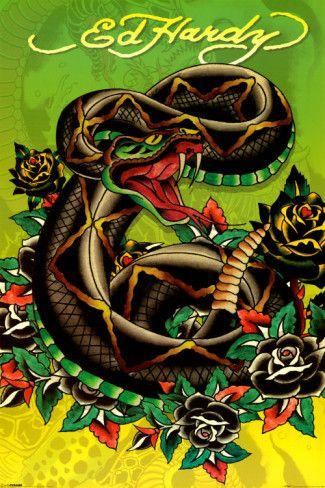 Ed Hardy - Snake Poster