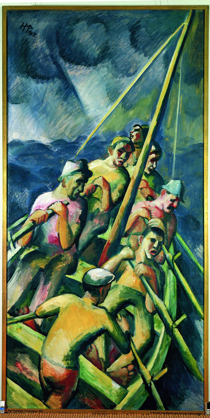 Fischerboot, Max Pechstein, 1913
