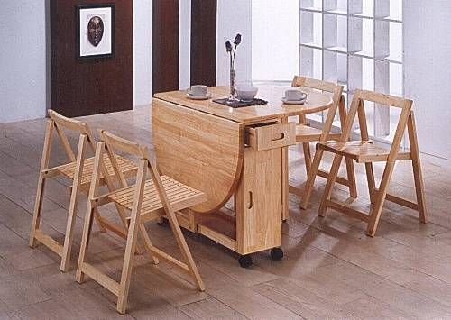 Folding Kitchen Table And 4 Chairs Folding Kitchen Table
