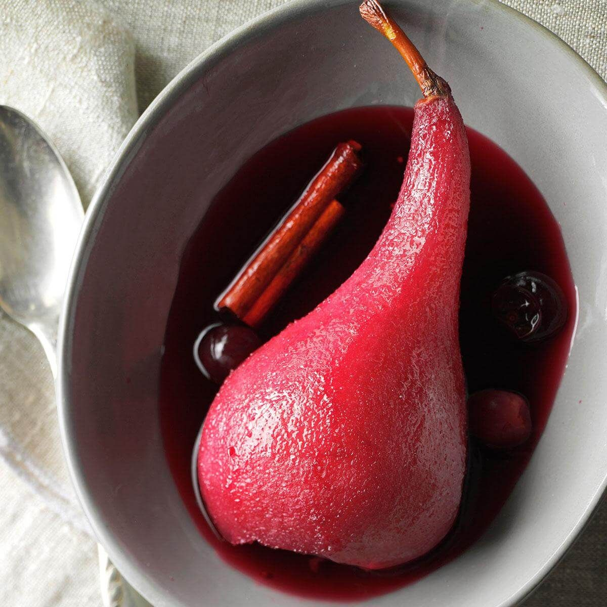 Red Wine Cranberry Poached Pears Recipe Pear Dessert Poached Pears Pear Recipes