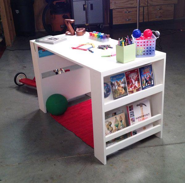 basteltisch mit reaglen an der seite kinder in 2019. Black Bedroom Furniture Sets. Home Design Ideas