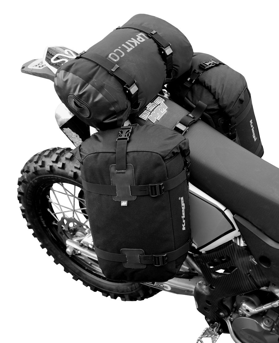 kriega overlander 30 dual sport pannier system equipement moto enduro motorcycle motorcycle. Black Bedroom Furniture Sets. Home Design Ideas