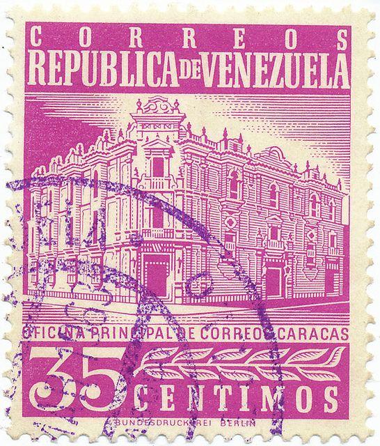 Venezuela Stamp Collection | 1958-1962 Venezuelan Stamp - Main Post Office, Caracas | Flickr ..