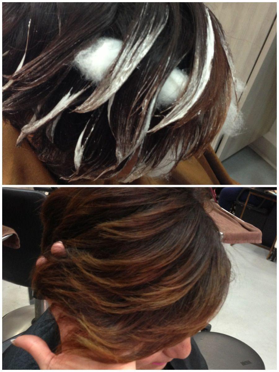 How to balayage short hair.