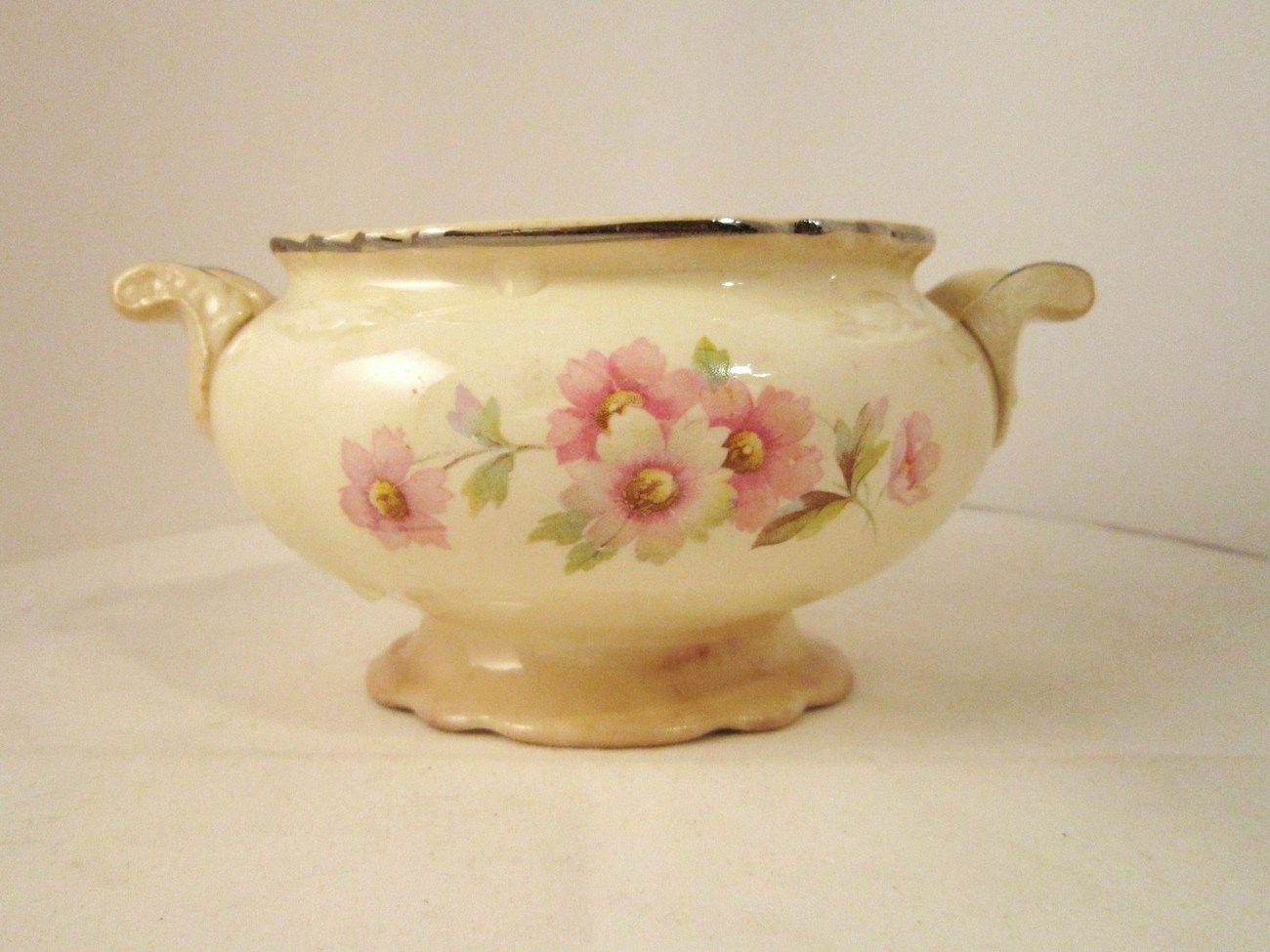 Homer Laughlin Virginia Rose 1948 Sugar Bowl Usa Chinaware