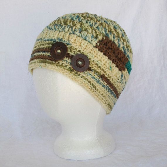 Ladies Multicolor Crocheted Cap by CarolsThreads on Etsy