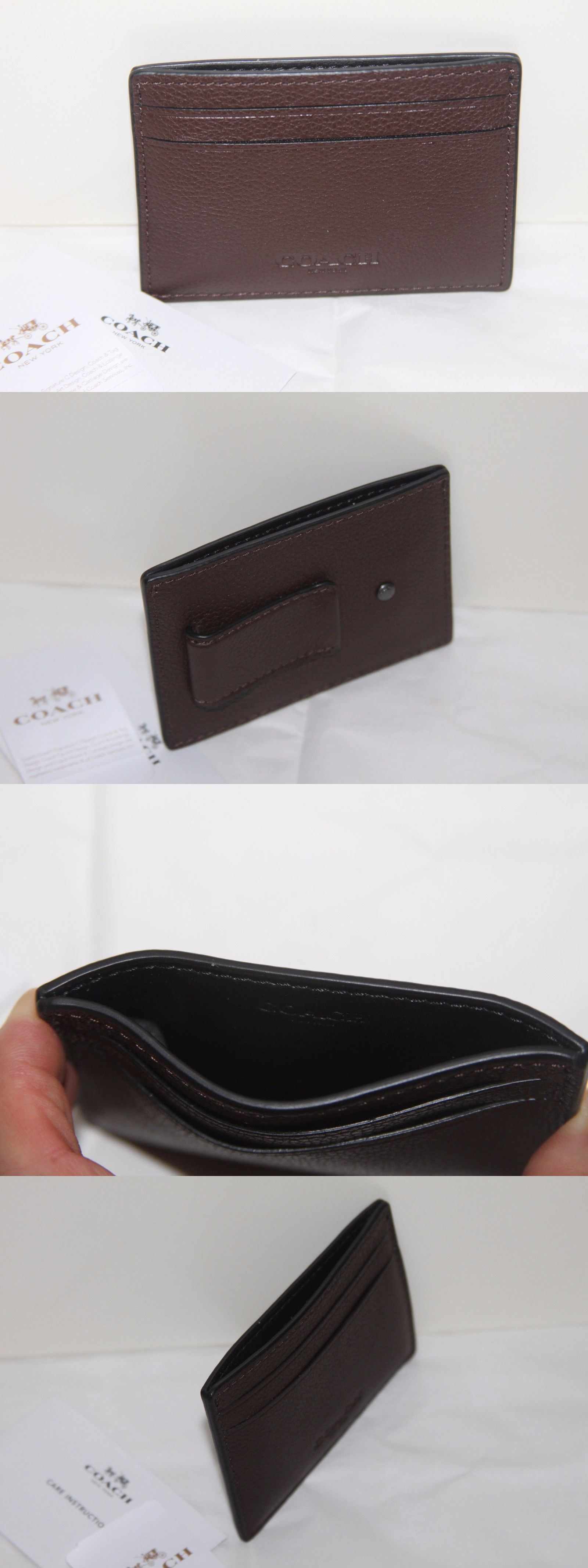 Business and credit card cases 105860 authentic coach men money business and credit card cases 105860 authentic coach men money clip card holder case leather reheart Image collections