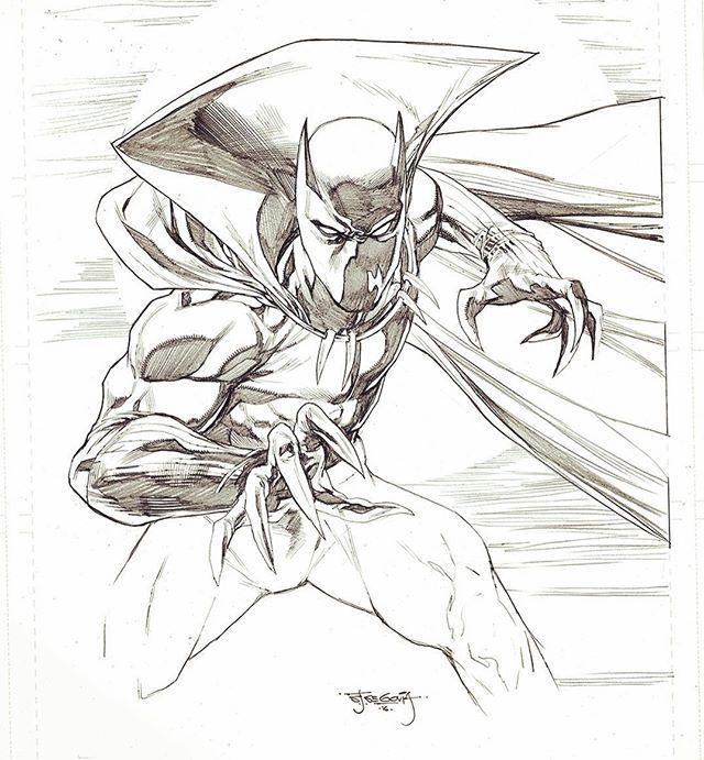 Black Panther by Stephen Segovia #blackphanter #marvel #sketch ...