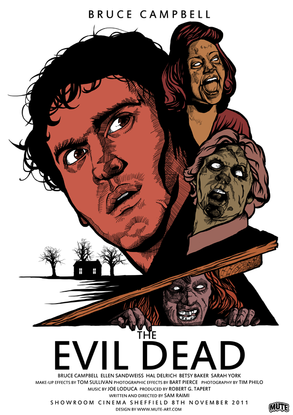The Evil Dead (1982) - Okay may not be scary, but this Sam Raimi classic deserves it's cult status. Five friends travel to a cabin in the woods, where they unknowingly release flesh-possessing demons.